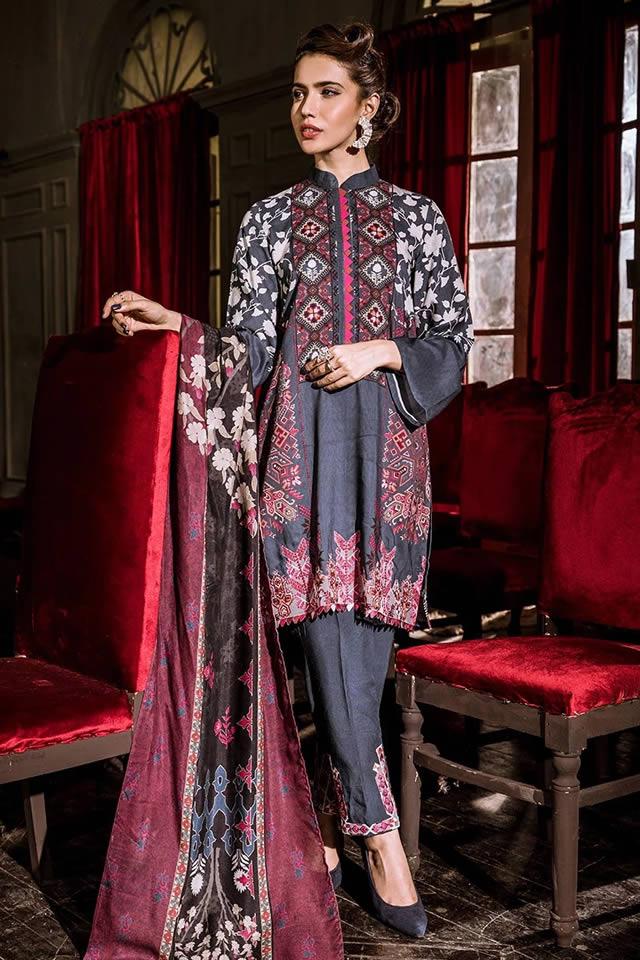 Unique Cross stitch Winter Khaddar Shirts 2020