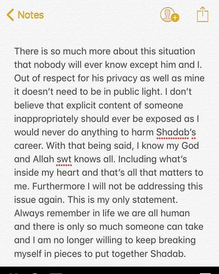 Cricketer Shadab Khan Ex Girlfriend Exposes Him | Check Details
