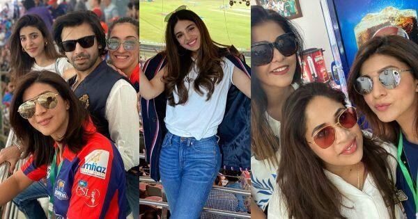 Clicks of Celebrities Supporting Karachi Kings in PSL