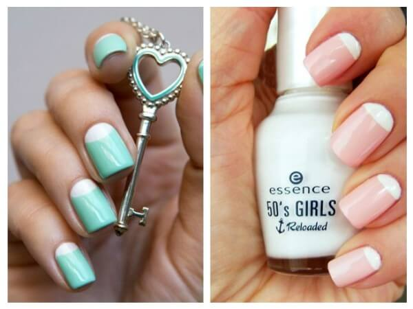 Moon manicure Trendy Nail Art Designs for Summer Vacations