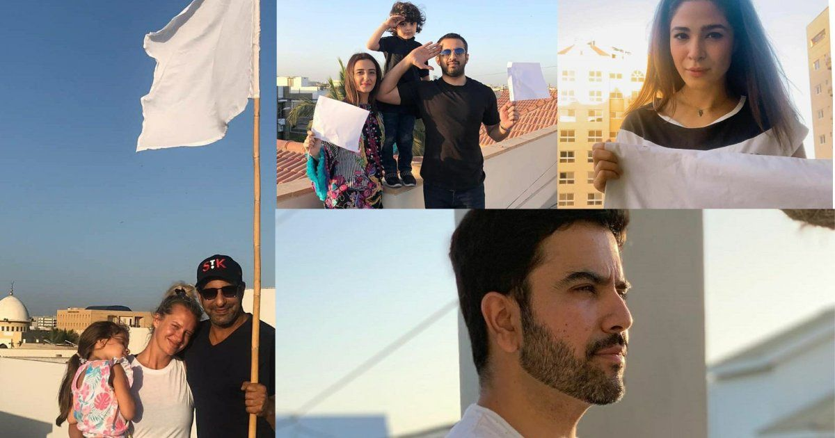 Pakistani Celebrities Supporting Doctors with White Flags