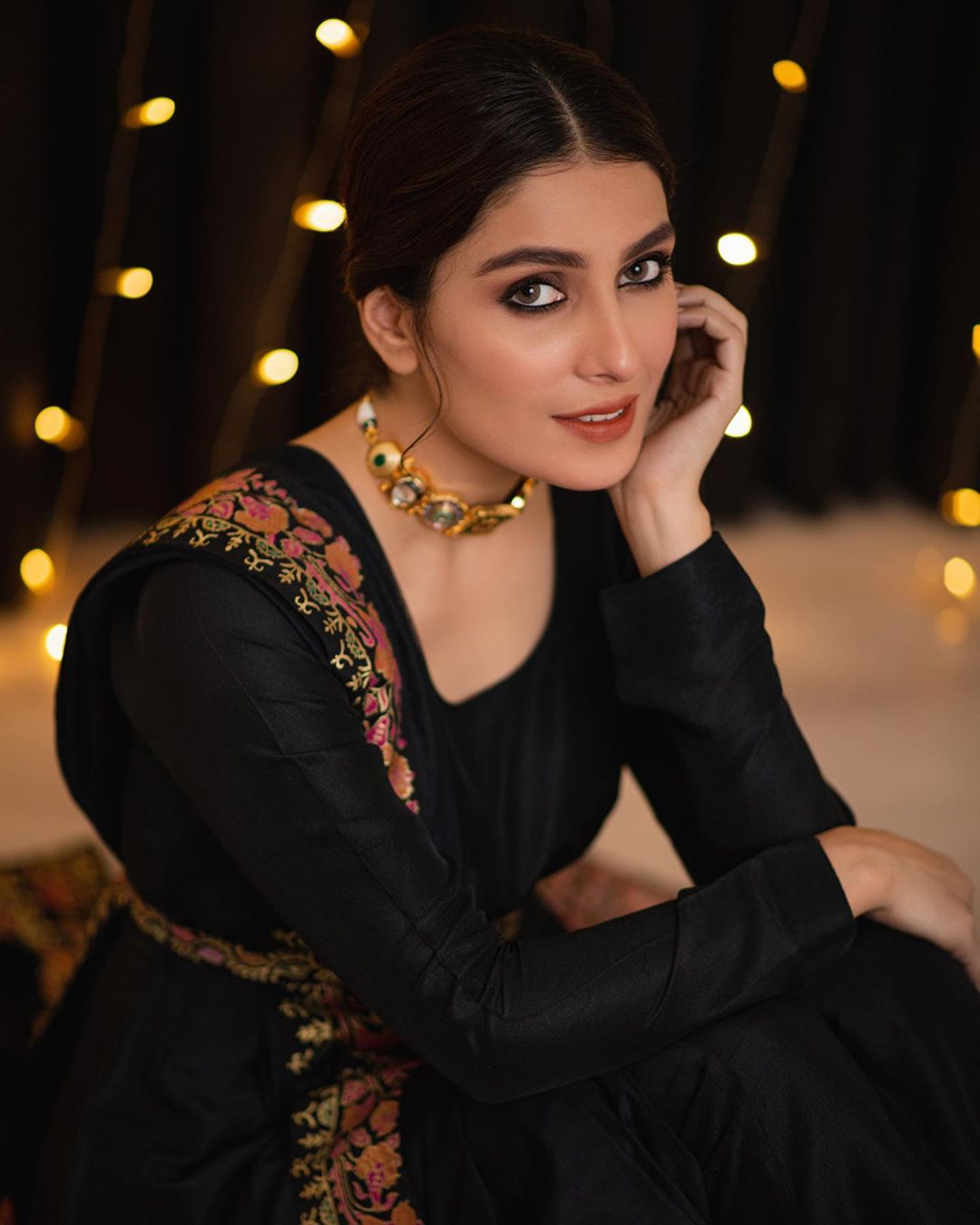 Ayeza Khan New  Awesome Clicks in Black Outfit