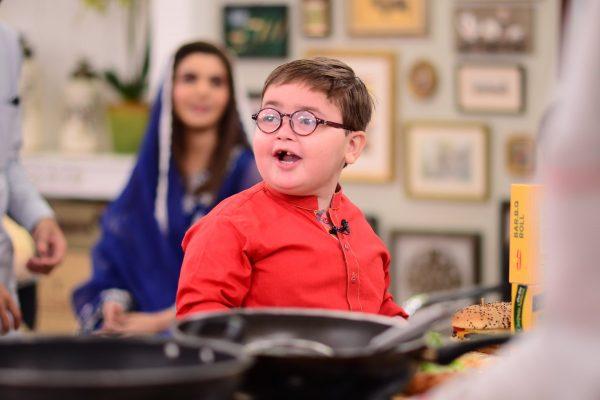Awesome Clicks of Cute Ahmed Shah from Nida Yasir Morning Show