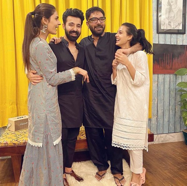 Iqra Aziz and Yasir Hussain with Friends [Pictorial]