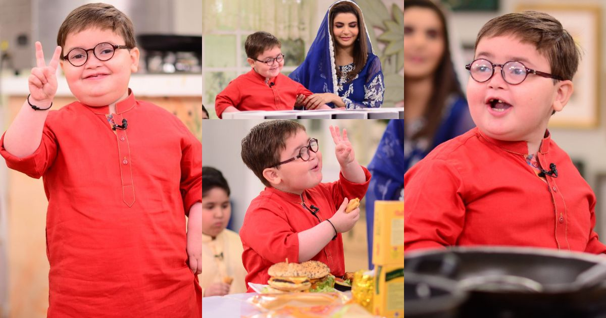Beautiful Pictures of Cute Ahmed Shah from Nida Yasir Morning Show