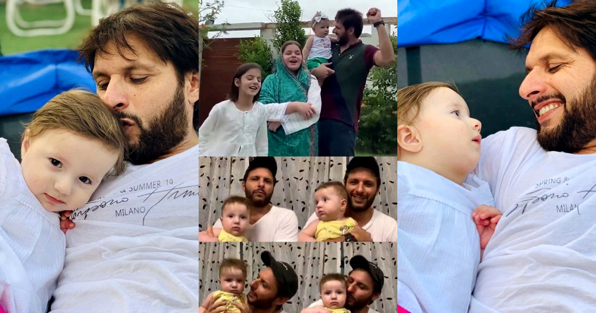 Shahid Afridi with his Daughter Arwa - Latest Beautiful Photos
