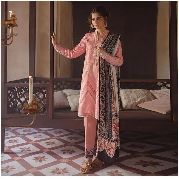 Minal Khan Flaunts Elegance in Cross Stitch collection Azal'21