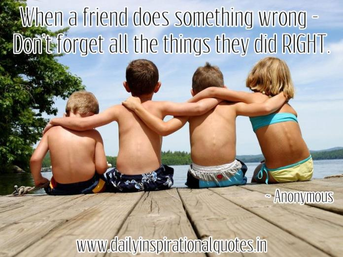 When a friend does something wrong.. ( Friendship Quotes )