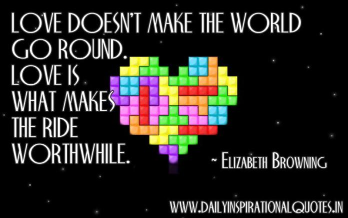Love doesn't make the world go round.. ( Love Quotes )