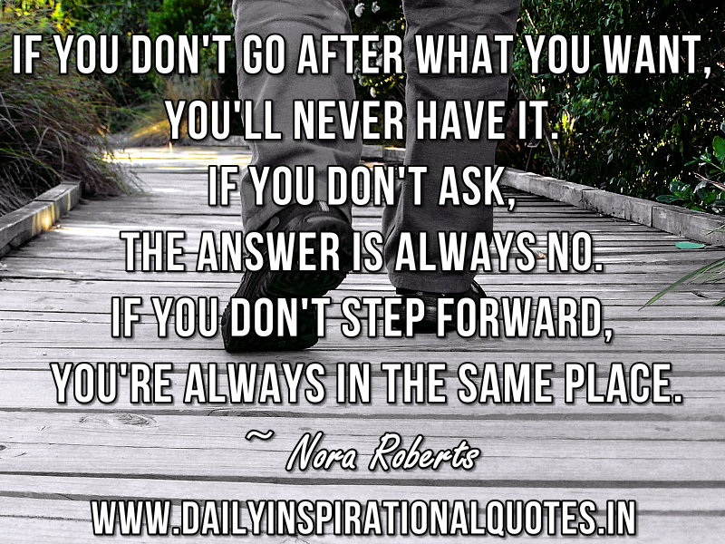 Quotes on going after what you want
