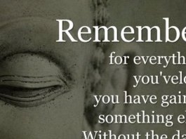 Remember for everything you've lost, you have gained something else. Without the dark, you would never see the light.