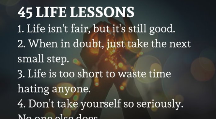 45 Life lessons written by Regina Brett