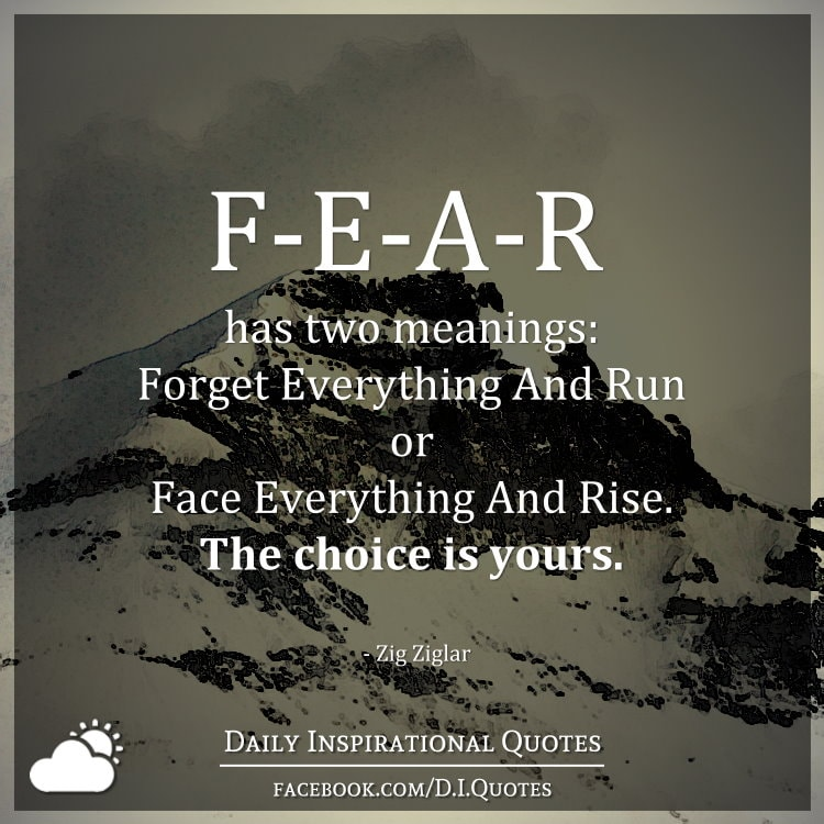 Fear has two meanings