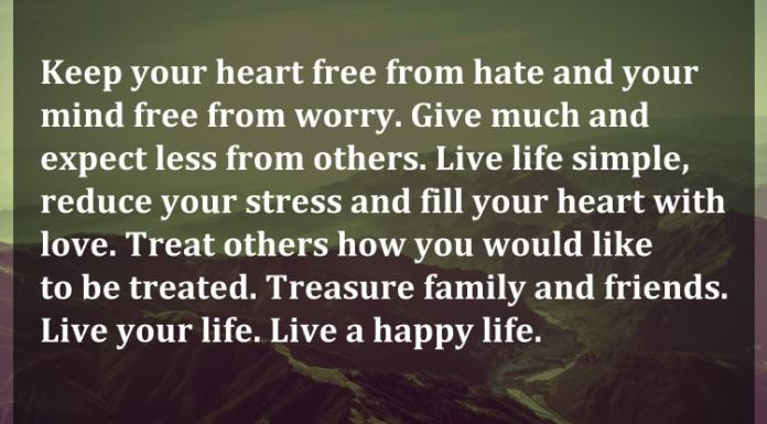 When Your Heart Is Happy Your Mind Is Free: Daily Inspirational And Wisdom Quotes