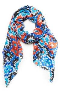 Vismaya Silk Abstract Print Scarf in Floral Multi | DAILYLOOK