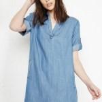 Velvet Heart Aisha Tencel Chambray Tunic Dress In Blue Dailylook