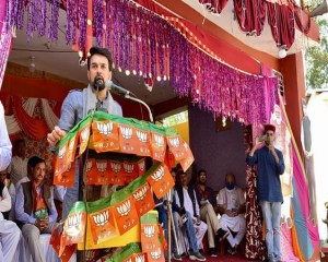 Constituency would develop only when BJP candidate wins the seat: Anurag Thakur in Fatehpur