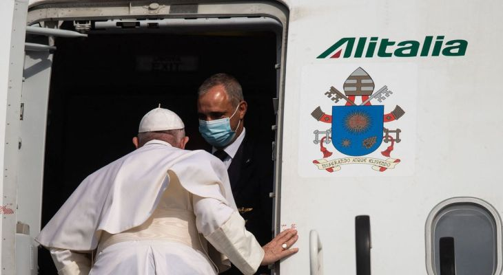 The Pope's airline, Alitalia, to fly last flight