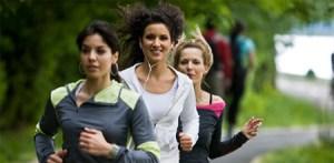 Girls Jogging in Park