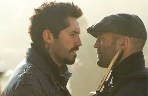 Scott Adkins and Statham Expendables 2