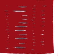 Lucio Fontana Concetto spaziale rosso, 1960 Foulard in seta prodotto da Edizioni del Cavallino Venezia, Collezione Cardazzo
