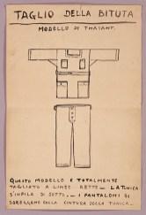 Thayaht (Ernesto Michahelles), Taglio della bituta, 1920, inchiostro su carta. Roma, Collezione CLM/ Seeber.