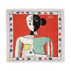 Franco Gentilini Ragazza col limone, 1957 Foulard in seta prodotto da Edizioni del Cavallino Venezia, Collezione Cardazzo