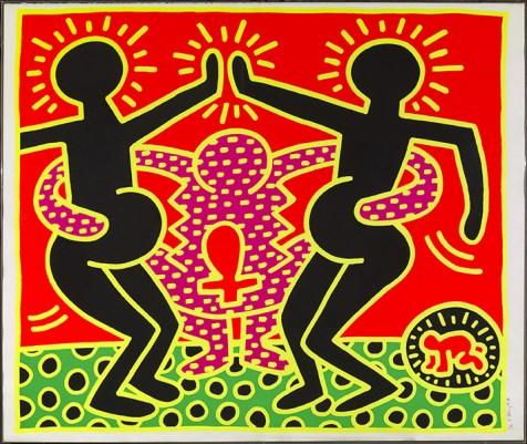 Keith Haring, Fertility, 1983, serigrafia 74/100. Firenze, Collezione privata