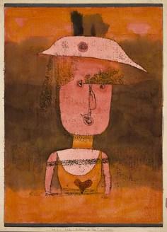 Ritratto di Frau P. nel Sud (Bildnis der Frau P. im Süden) Paul Klee (Münchenbuchsee 1879-Muralto-Locarno 1940), 1924, disegno ad acquerello e ricalco a olio su carta montata su tavola dipinta a guazzo, cm 42,5 x 31, compresa la montatura. Venezia, Collezione Peggy Guggenheim, 76.2553. Foto di Carmelo Guadagno