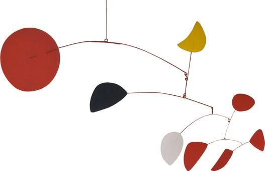 Luna gialla. Alexander Calder (Filadelfia 1898-New York 1976), 1966, lamiera dipinta, aste metalliche e filo d'acciaio, cm 162,6 x 243,8 x 177,8, Venezia, Fondazione Solomon R. Guggenheim, Collezione Hannelore B. e Rudolph B. Schulhof, lascito Hannelore B. Schulhof, 2012, 2012.33 Foto di David Heald © Calder Foundation New-York, by SIAE 2016