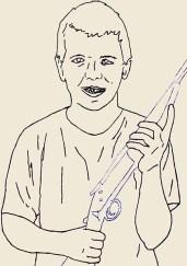 American boy, 2015 – 2016 Ricamo su carta, filo colorato formato 21×29 cm