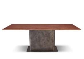 Red Travertine Rectangular Table