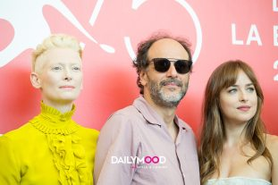 Tilda Swinton, Luca Guadagnino, Dakota Johnson 2