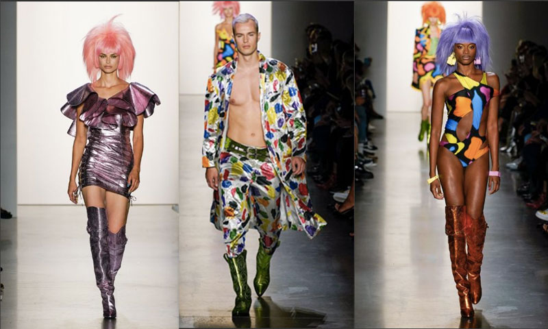 New York Fashion Week Jeremy Scott embellished his show with