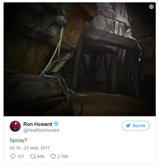 Spicey ? - Le tweet de Ron Howard