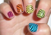 curly stripes over colorful base