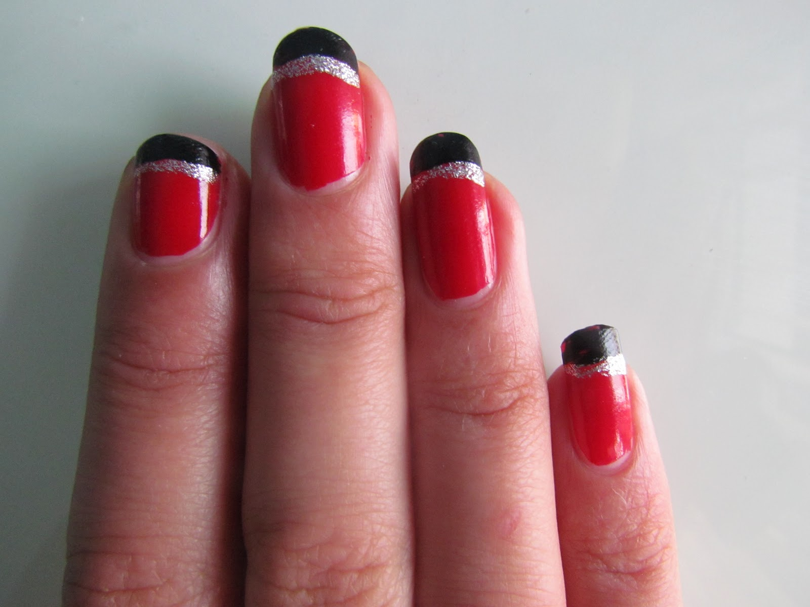 Nail Art Design On Red Paint Best Designs