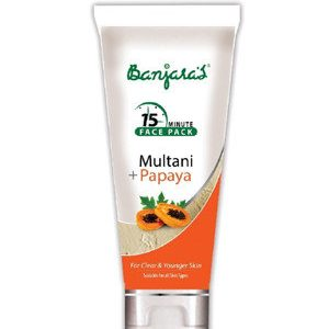 Banjaras 15 Minute Therapy Multani With Papaya 100 Tube