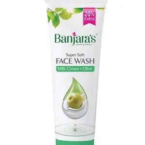 Banjara's Face Wash Milk Cream Olive 50 Grams