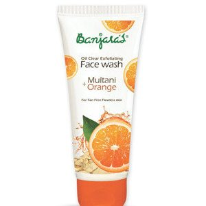 Banjaras Face Wash Multani And Orange 100 Ml Tube
