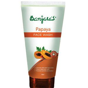 Banjaras Face Wash Papaya For Fair Skin 100 Ml Tube