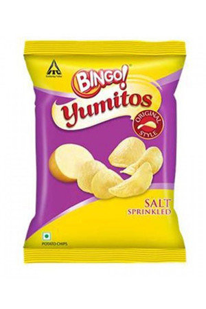 Bingo Yumitos Potato Chips - Original Style, Salt, 60 gm