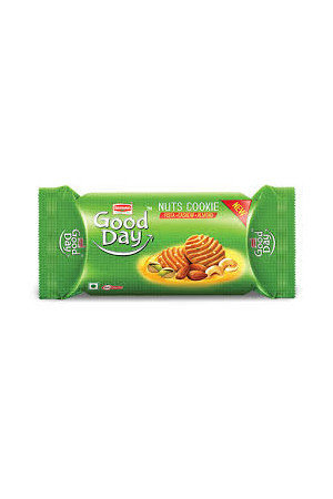 Britannia Good Day Biscuit, Nut Cookies, 200 Grams