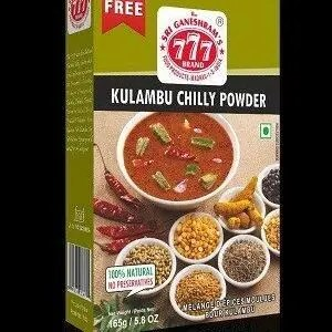 777 Kulambu Chilly Powder 50 Grams Pouch