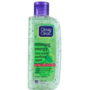 Clean And Clear Face Wash Morning Energy With Natural Apple Extracts 100 Ml
