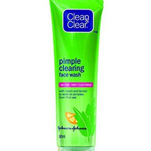 Clean And Clear Face Wash Pimple Clearing With Neem And Lemon 80 Ml