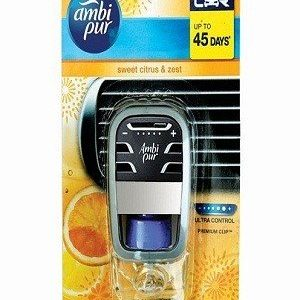 Ambi Pur Car Air Freshener Sweet Citrus And Amp Zest Starter Kit 7 Ml