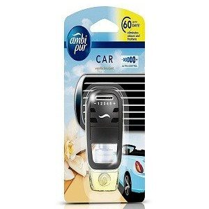 Ambi Pur Car Air Freshener Vanilla Starter Kit 7.5 Ml Pouch