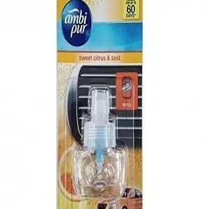 Ambi Pur Car Air Freshner Refill Sweet Citrus And Amp Zest 7.5 Ml Pouch