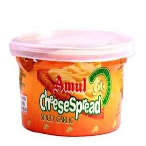Amul Cheese Spread – Spicy Garlic, 200 gm Box